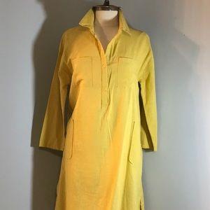 100% COTTON MAXI TUNIC DRESS